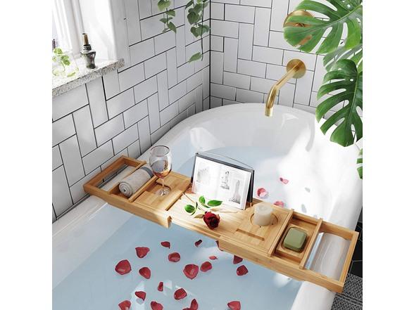 SONGMICS Bathtub Caddy Tray