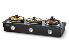 Nostalgia Electrics Triple Slow Cooker