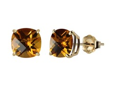 10K YG Stud Earrings, Citrine