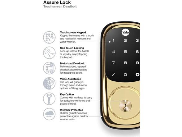 YRD226AZ Yale Assure Smart Lock Touchscreen Amazon Key Edition