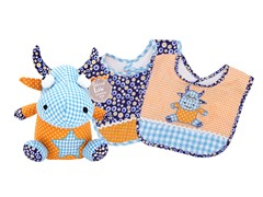 Dreamsicle Bib & Buddy Set - Blue