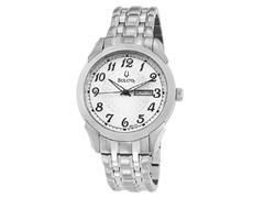 Men's Silver & White Dial Bracelet Watch
