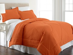 Micro Flannel® Comforter Set-Teracotta-3 Sizes
