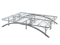 Silver Metal Bed Base (5 Sizes)