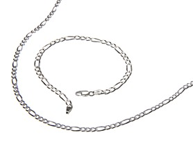 Sterling Silver Figaro Chain - 6 Sizes
