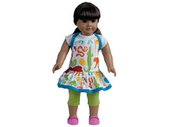Doll Apron - Zoo