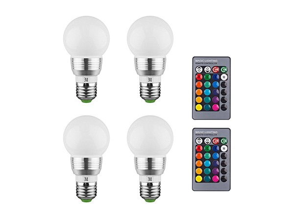 Enjoyable Led Color Changing Light Bulbs W Remote Wiring Cloud Oideiuggs Outletorg