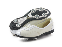 Women's Half Lace Golf Shoe, Ivory