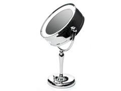 10X Danielle Chrome Revolving Lit Mirror