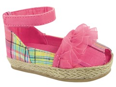 Pink Open Toe Espadrille (Toddler 3-10)