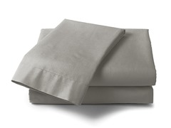 600 Thread Count Cotton Sateen Sheet Set  - Silver