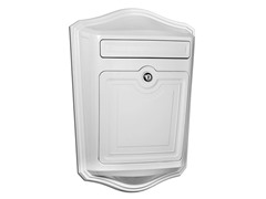 Maison Locking Wall Mount Mailbox, White