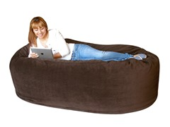 Big Sleep Big Sack Love Seat - Legend Espresso