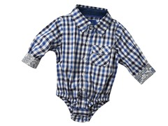 Infant Oxford Shirtzie - Blue Gingham (3M-6M)