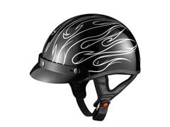 GLX Silver Stria Half Helmet