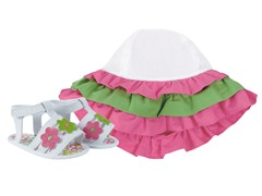 Pink Flower Hat & Sandals (Infant 1-3)