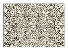 "Diamond Collection Cream Gray -5'3""X7'6"""