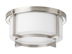 2-Light Flush Mount, Brushed Nickel