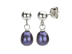 Black Pearl Tear Drop Earrings