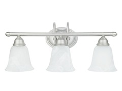 Satin Nickel 3-Light Wall Fixture