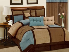 Dareen 7pc Comforter Set - Aqua - 2 Sizes