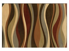 Emery Brown-Green Abstract Rug (Multiple Sizes)