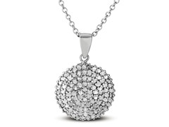 1.0cttw Diamond Circle Pendant