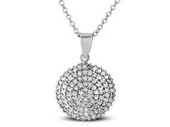 1.0cttw Diamond Circle Pendant