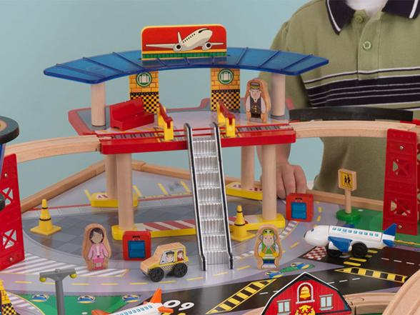 Glamorous Kidkraft Airport Express Train Set And Table Reviews Ideas ...