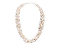 SS 3-Strands Freshwater Pearl Necklace