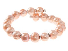 Pink Freshwater Pearl Bangle