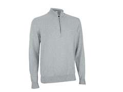 Pima Half Zip Sweater - Pebble (S/2XL)