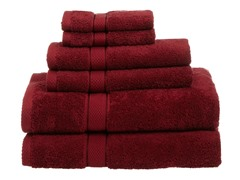 Pinzon EgyptianCotton 725GSM 6Pc Towels-Cranberry