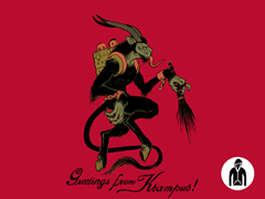 Greetings from Krampus! Zip-Up Hoodie
