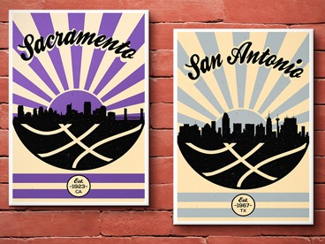 Vintage Basketball Posters