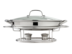 "13.5"" Oval Stainless Steel Buffet"
