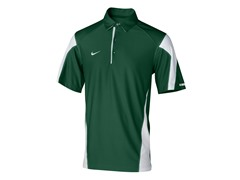 Nike Men's Check Down Polo-Green/Wht (S)