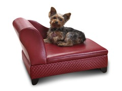 Storage Pet Bed - Basketweave Red