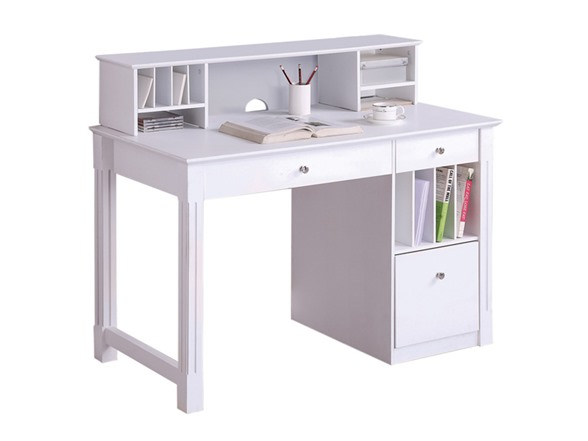 Deluxe Wood Computer Desk With Hutch