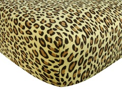 Tan Leopard Print Flannel Crib Sheet