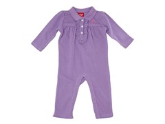 Girls Lavender Ruffled Coverall (3-12M)