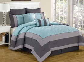 8-Piece Comforter Sets- 2 Sizes - 4 Colors
