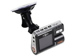 Dual Camera 720p DVR Dash Cam w/ 8GB microSD Card