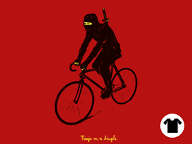 Ninja on a bicycle