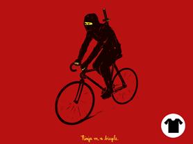 Ninja on a bicycle