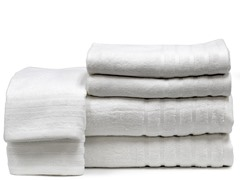 Rayon From Bamboo 6pc Towels-White