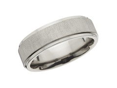 7mm Satin Center Titanium Band