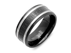 Men's Ring w/ Metallic Line and Greek