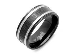 Men's Ring w/ Metallic Line and Greek