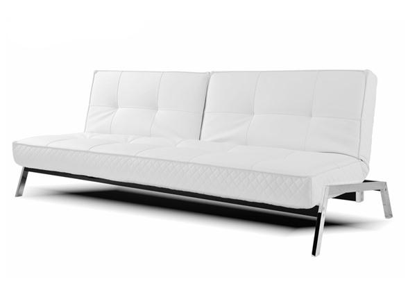 Abbyson Living Venice White Convertible Sofa